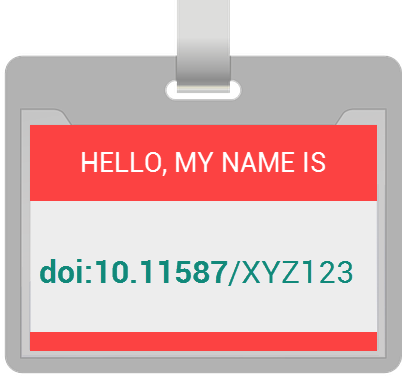 A name tag showing the AUSSDA-specific DOI